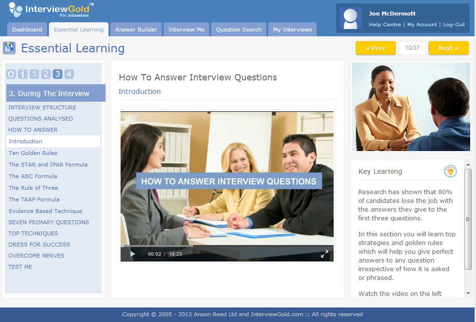 Develop your skills quickly with the fast track interview skills course